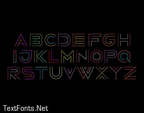 Neon Line Art Font Designs