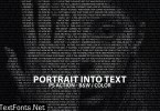 Portrait Into Text Photoshop Action