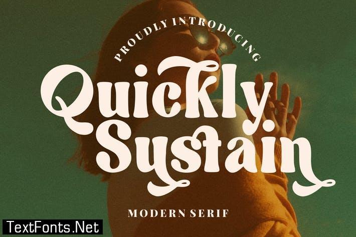 Quickly Sustain Modern Serif