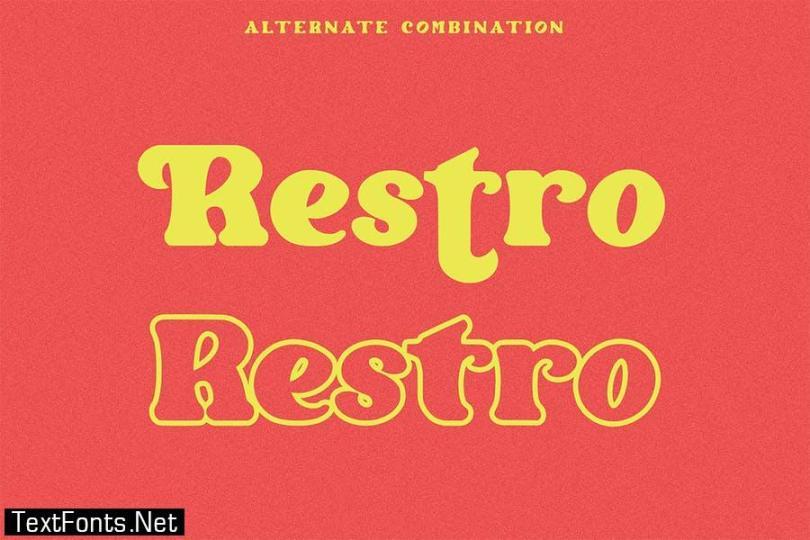 Restro - Display Font