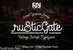 Rustic Gate Vintage Family 554321