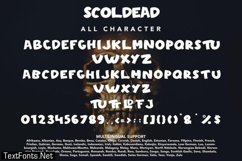 Scoldead - Display Sans Serif Font