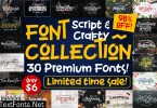 Script & Crafty Font Collection