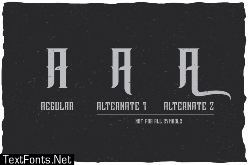 Sinister Typeface 521034