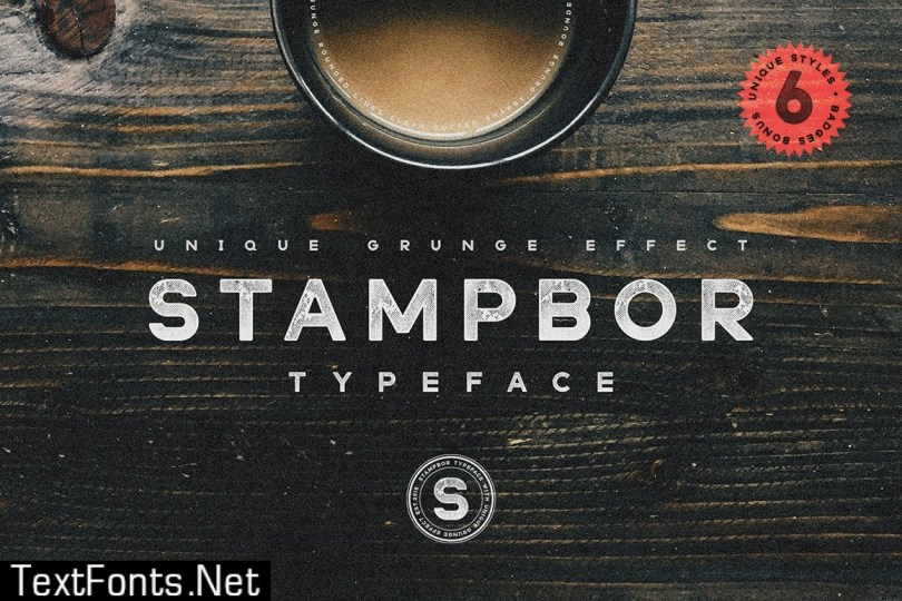 Stampbor Typeface 507052 - 5 FONTS