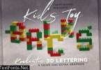 Toy Bricks 3D Lettering