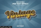 Vintage Retro 3D Text Effect T2Y4QCR