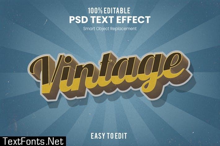 Vintage Retro 3D Text Effect T2Y4QCR
