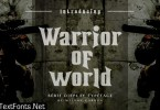 Warrior of World Font