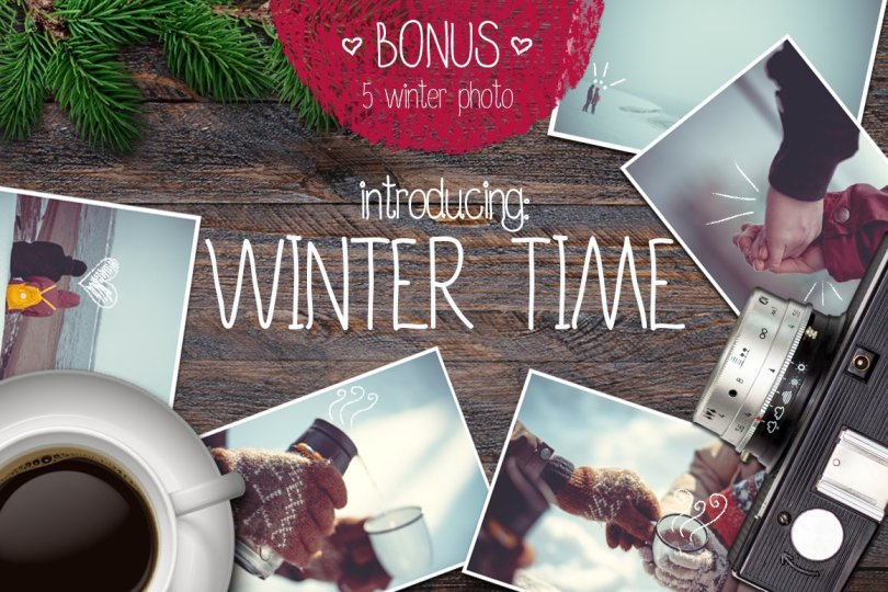 Winter Time Font 458459