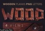 Wooden Planks - 3D Lettering