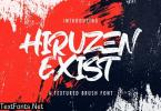 Hiruzen Exists - Textured Brush Font
