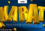 Karat ~ 3D Gold Lettering Pack