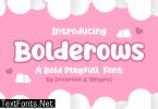 Bolderows Font