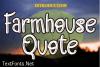 Farmhouse Quote Font