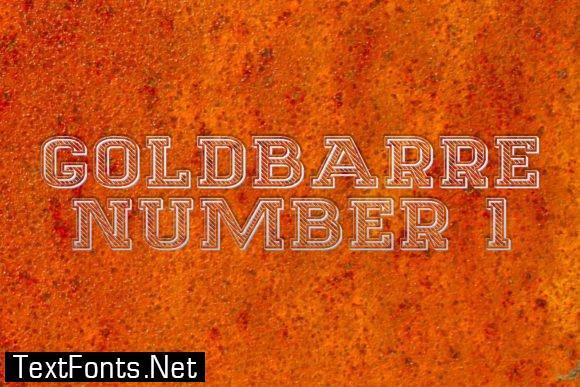 Goldbarre Font