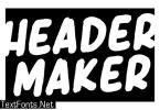 Header Maker Font