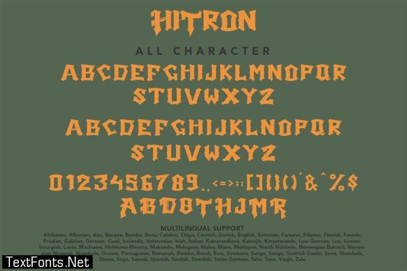 Hitron - Blackletter Typeface
