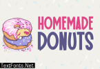Homemade Donuts Font