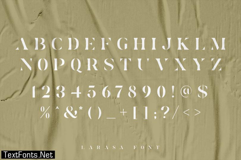Larasa - Modern Luxury Serif Font