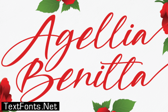 Title Agellia Benitta Font