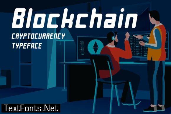 Title Blockchain Font