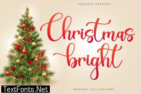 Title Christsmas Bright Font