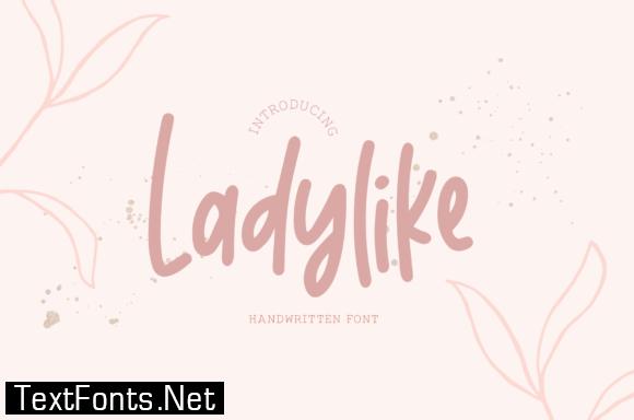 Title Ladylike Font