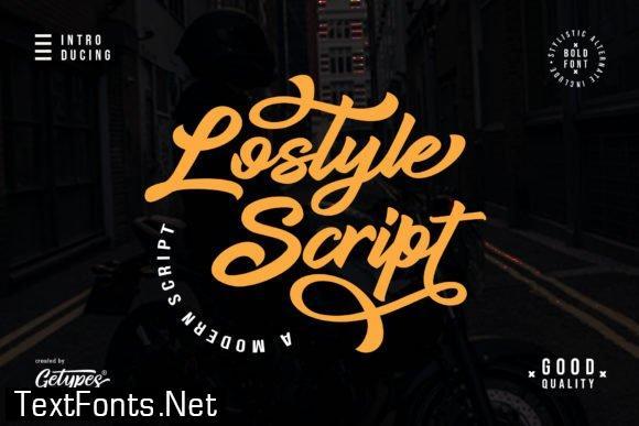Title Lostyle Script Font