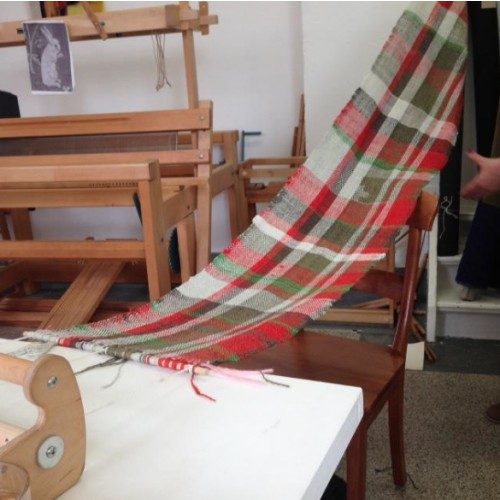 sjaal weven