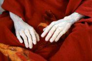detail van handen.