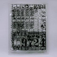 Textielverf en meer stempel 7x10cm kasboek