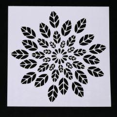 Textielverf en meer stencil 13x13cm bloemblad