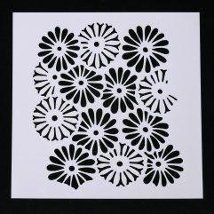 Textielverf en meer stencil 13x13cm margrieten