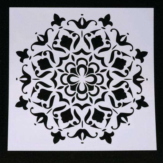 Textielverf en meer stencil 15x15cm kaleidoscoop