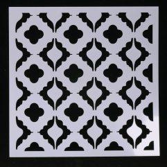 Textielverf en meer stencil 15x15cm retrobehang