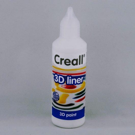 Textielverf en meer Creall 3D liner 14 wit 80ml