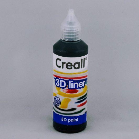 Textielverf en meer Creall 3D liner 15 zwart 80ml