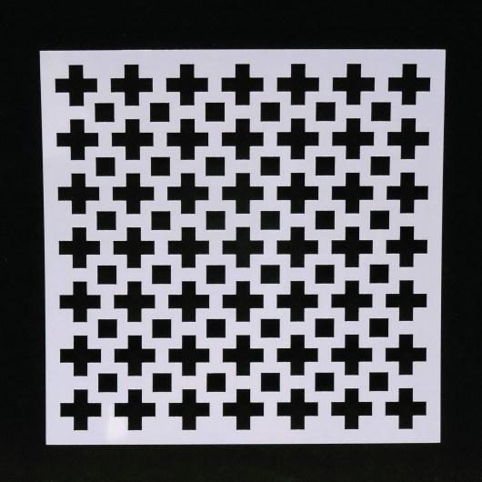 Textielverf en meer stencil 13x13cm kruizen