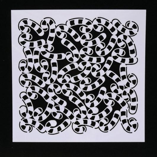 Textielverf en meer stencil 13x13cm zuurstokken
