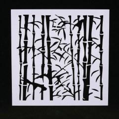 Textielverf en meer stencil 13x13cm bamboe