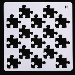 Textielverf en meer stencil 13x13cm puzzelstukken
