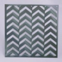 Textielverf en meer stencil 15x15cm chevron