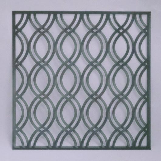 Textielverf en meer stencil 15x15cm golven