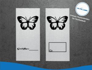 Schmetterling Größenetikett Textiletiketten für Größenbeschriftung M005006