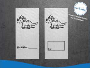 Textiletiketten mit Dino Triceratops Motiv M015016