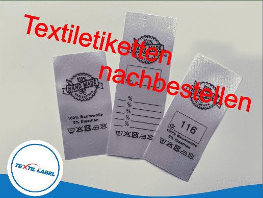 Textiletiketten Konfigurator Textil-Label Konfigurator Nachbestellen