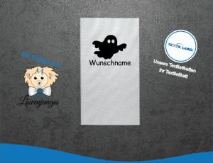Namensetiketten mit Halloween Gespenst Motiv W044