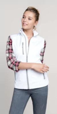 gilet softshell femme zip et poches