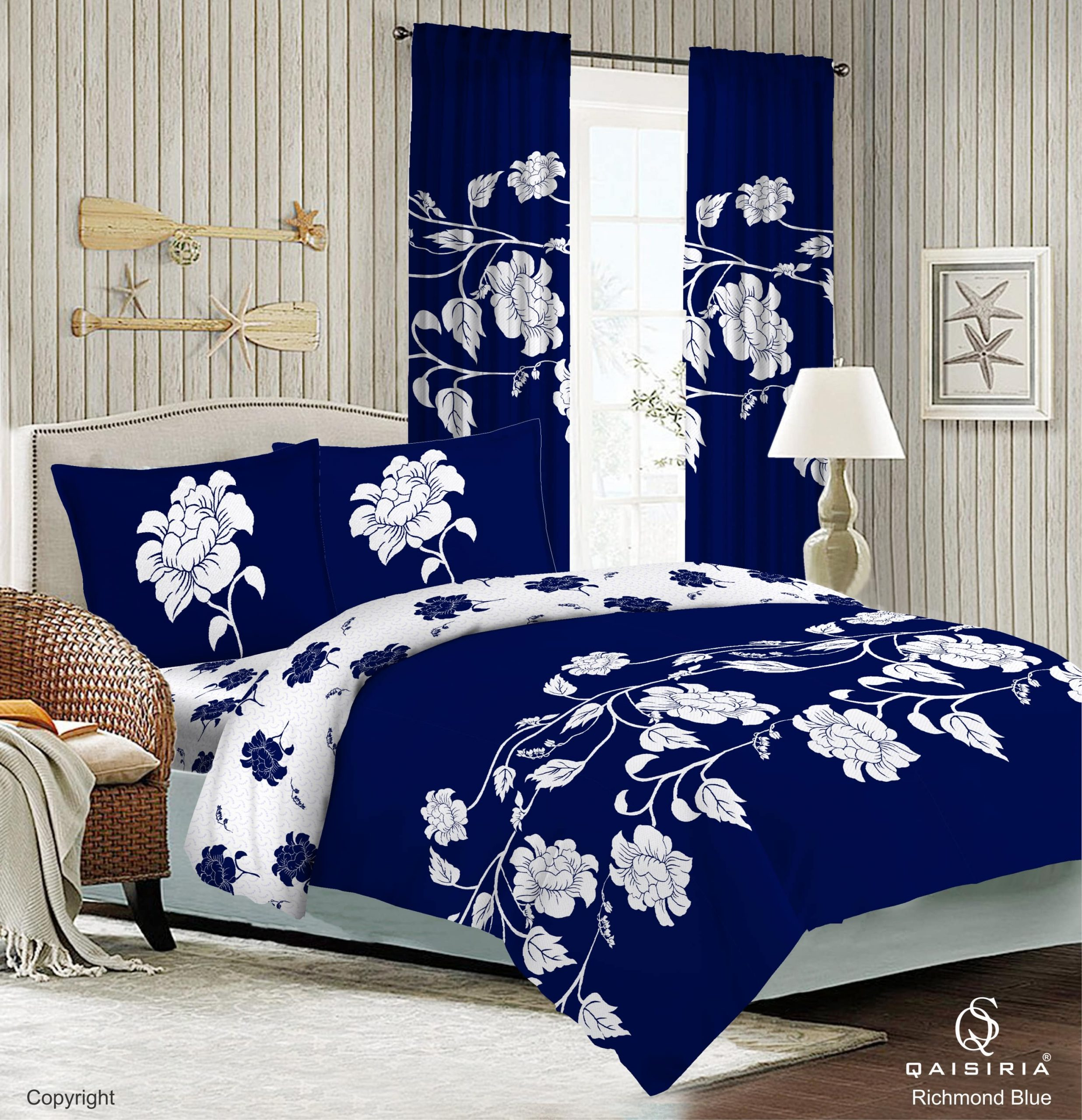 premium quality 4 pcs complete set and matching curtains free shipping